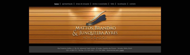 Página principal da Mattos, Brandão & Junqueira Ayres Advogados.