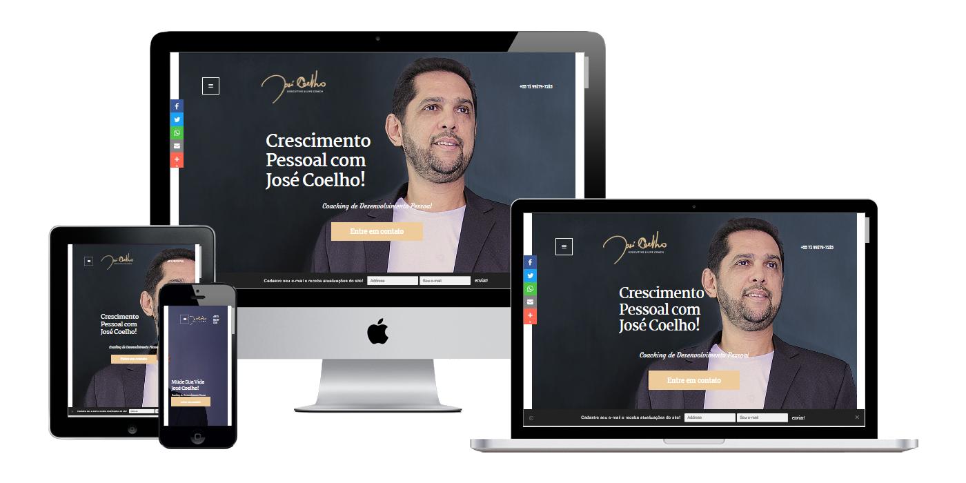 Print da página principal do site Coelho Coatch.