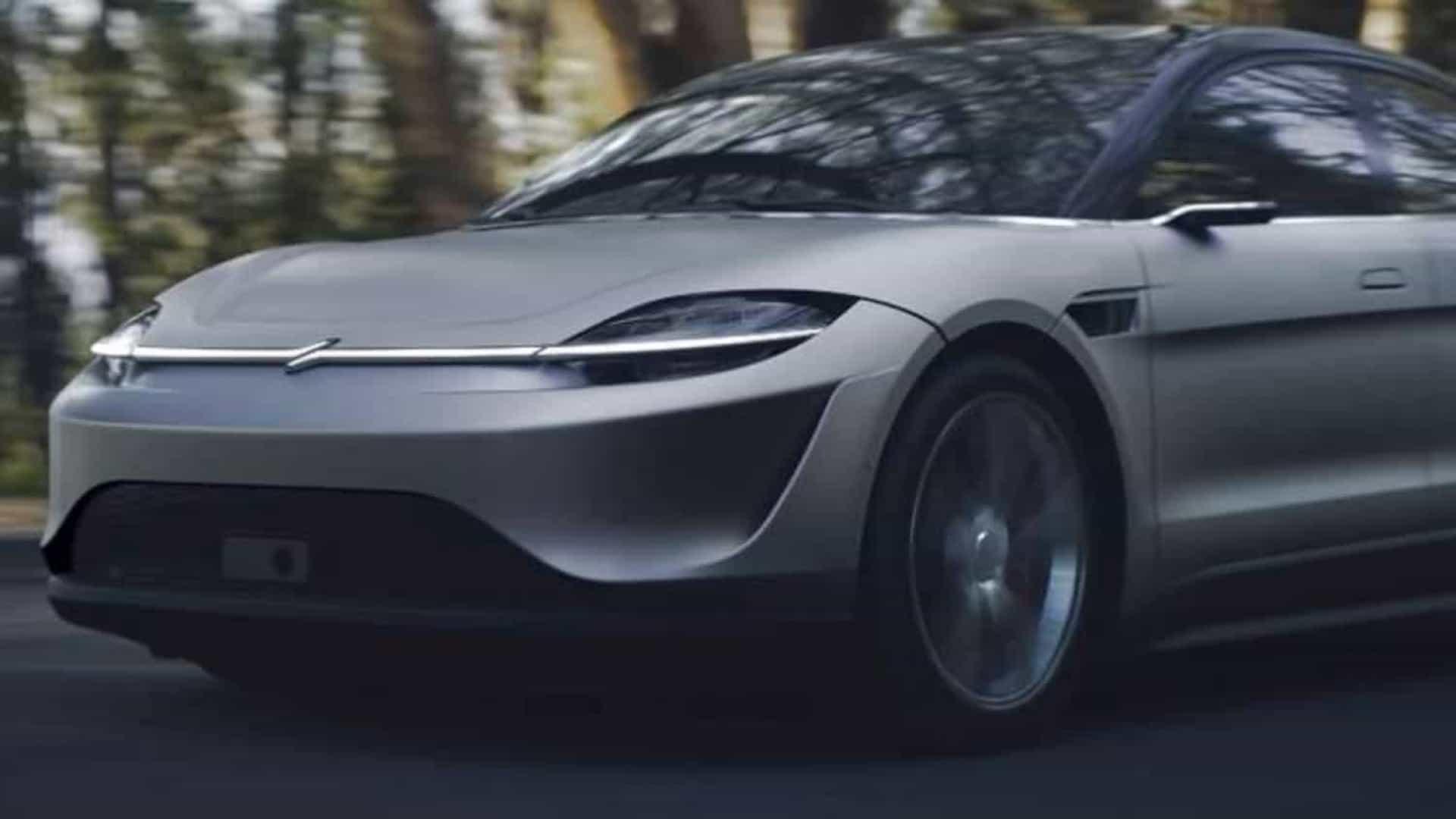 Primeiro carro elétrico da Sony faz sucesso em feira de tecnologia