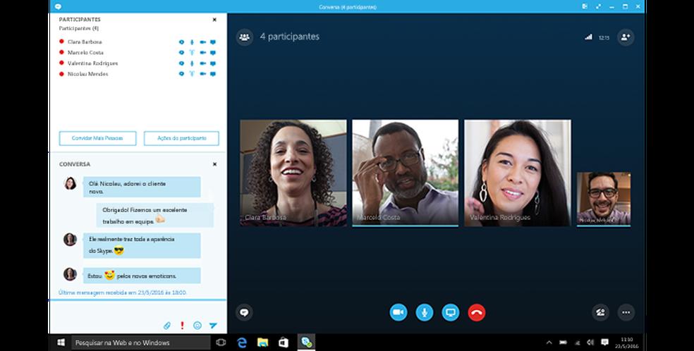 Skype permite chamada em grupo