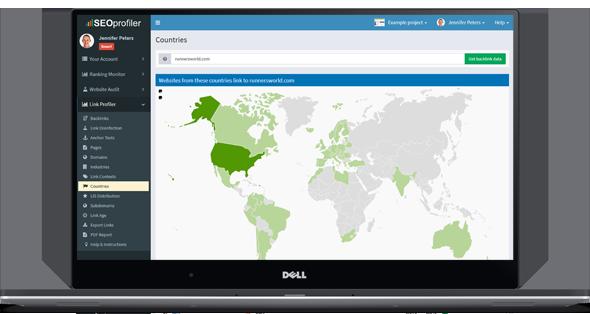 A ferramenta Link Profiler oferece filtros abrangentes que permitem encontrar links específicos com rapidez e facilidade.